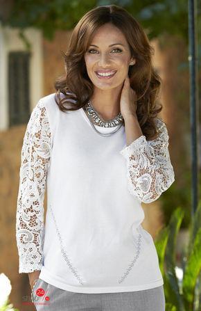 Пуловер  Белый цвета