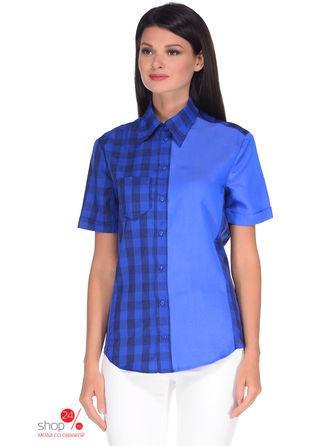 Рубашка  голубой, синий цвета