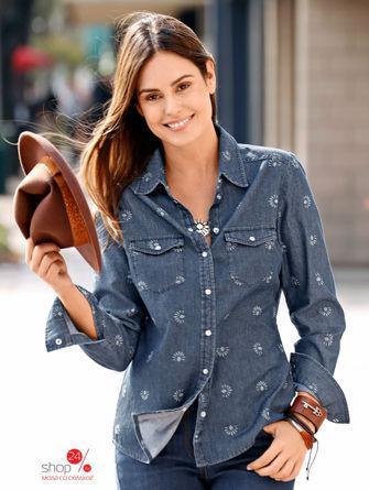 Рубашка  синий, рисунок цвета