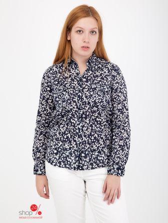 Рубашка  темно-синий, белый цвета