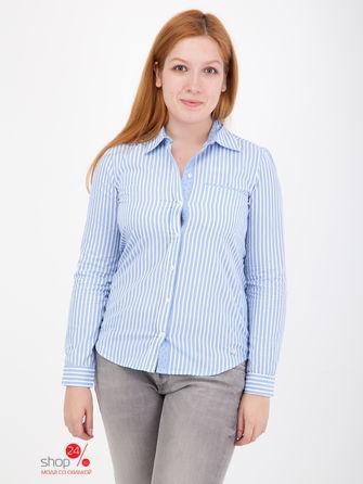Рубашка  голубой, белый цвета
