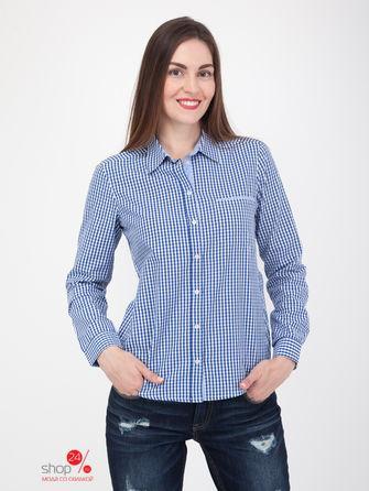 Рубашка  синий, белый цвета