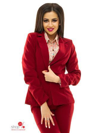 Жакет  - бордовый цвет