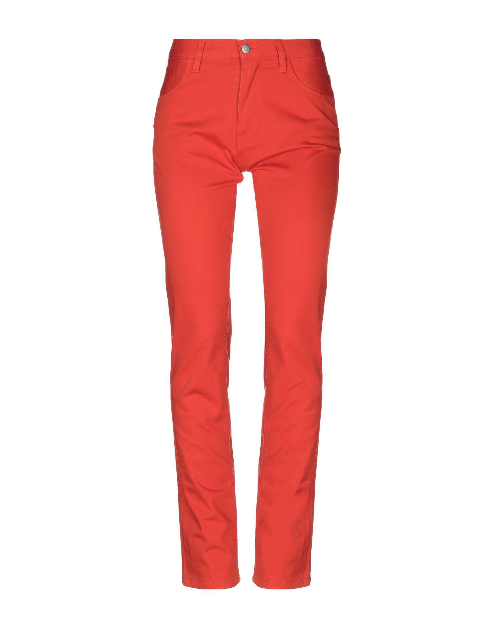 Повседневные брюки  Оранжевый цвета