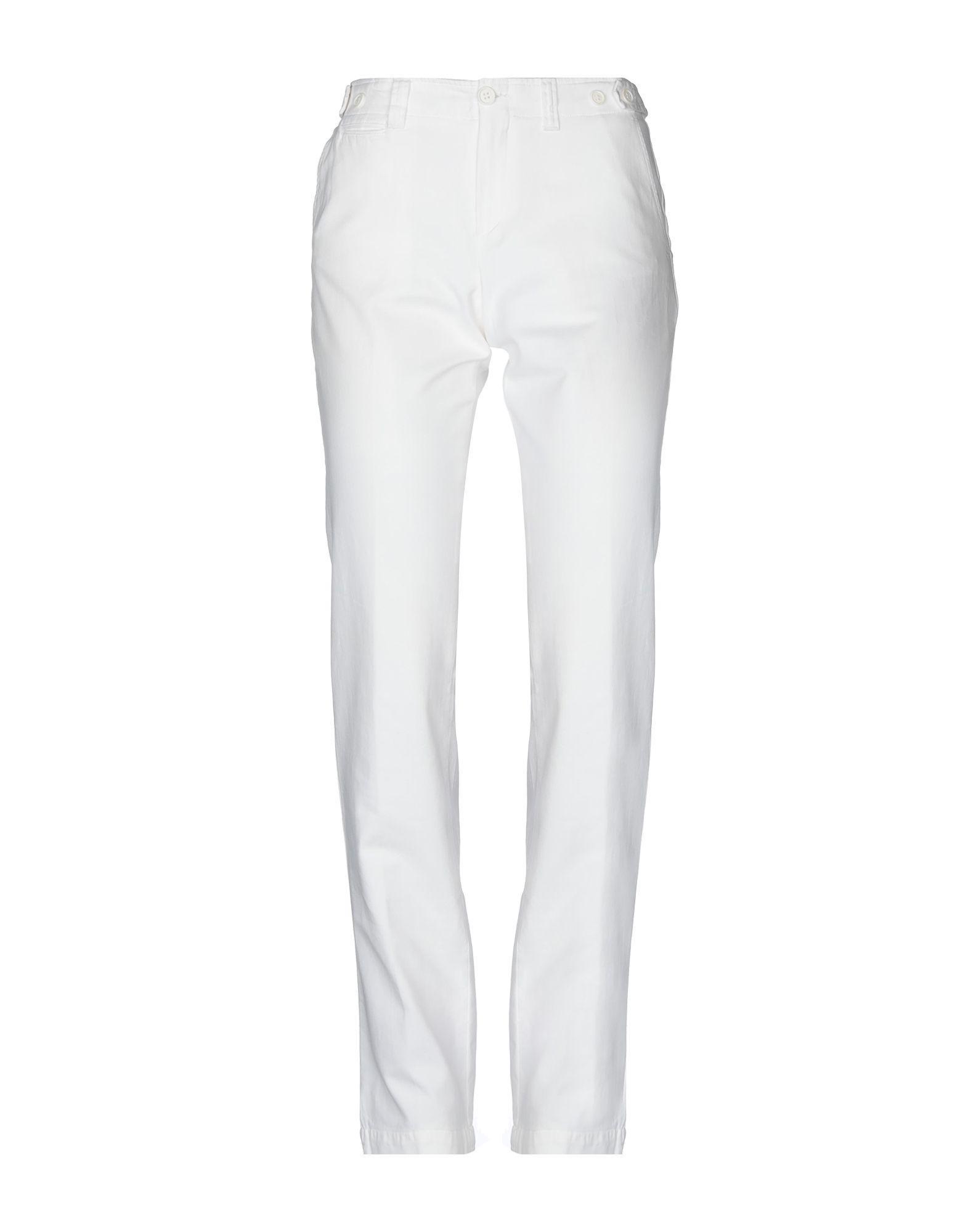 Повседневные брюки  Белый цвета