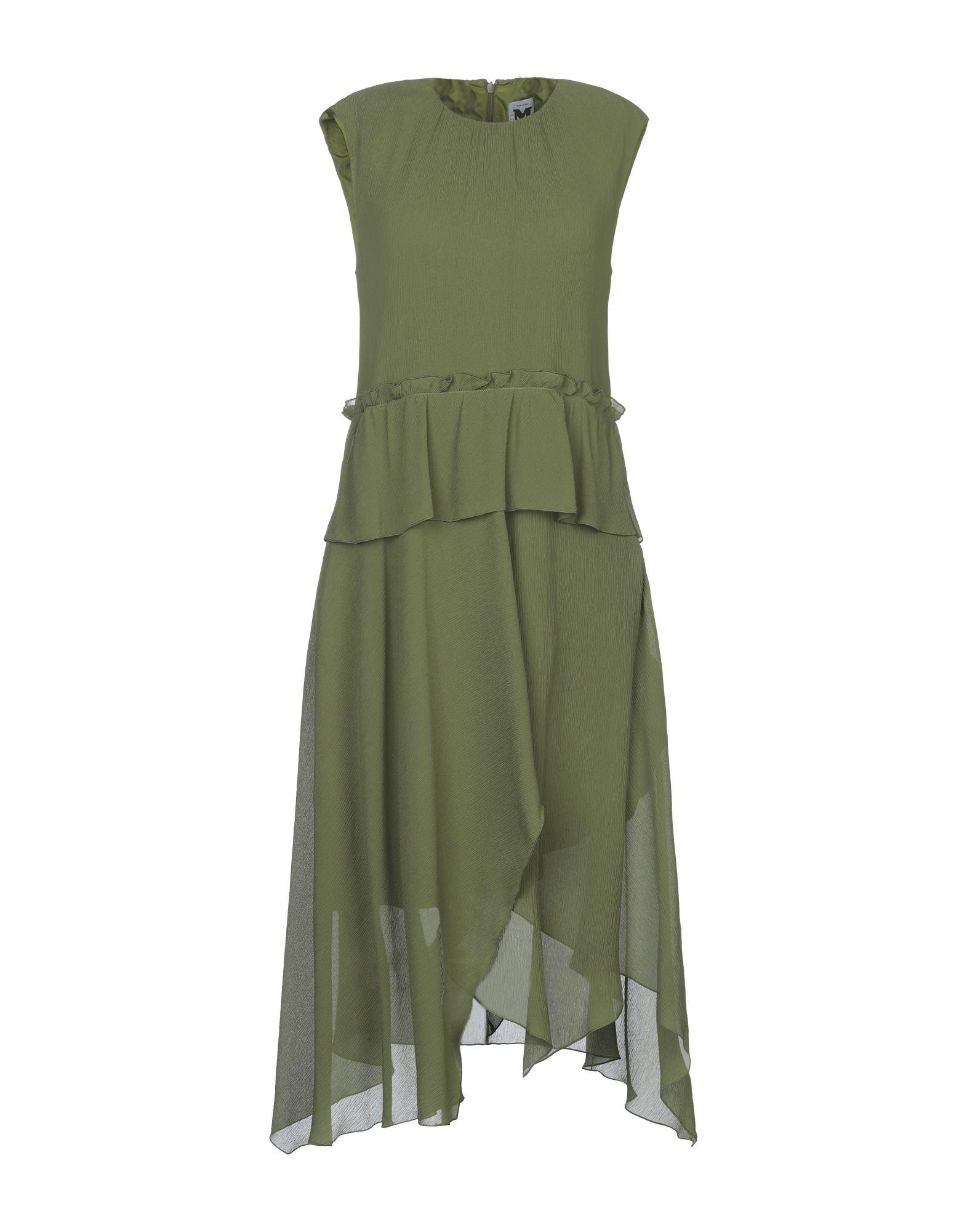 Короткое платье  - Зеленый,Черный цвет