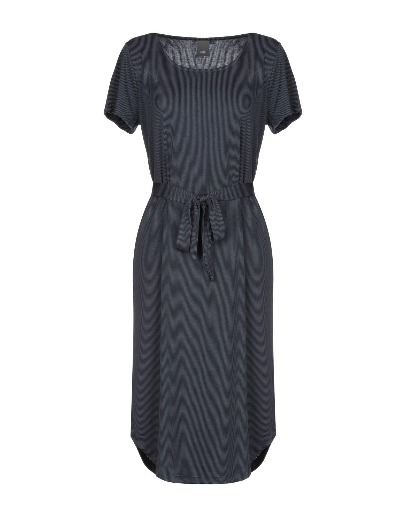 Платье до колена  Синий цвета