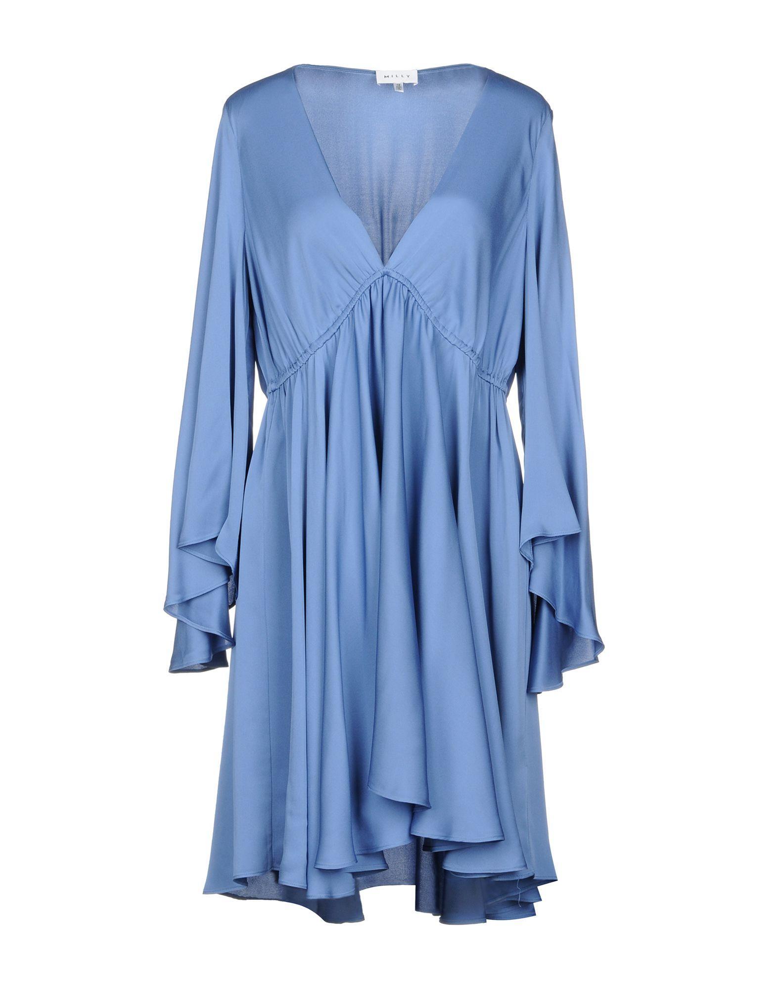 Короткое платье  Голубой,Синий цвета