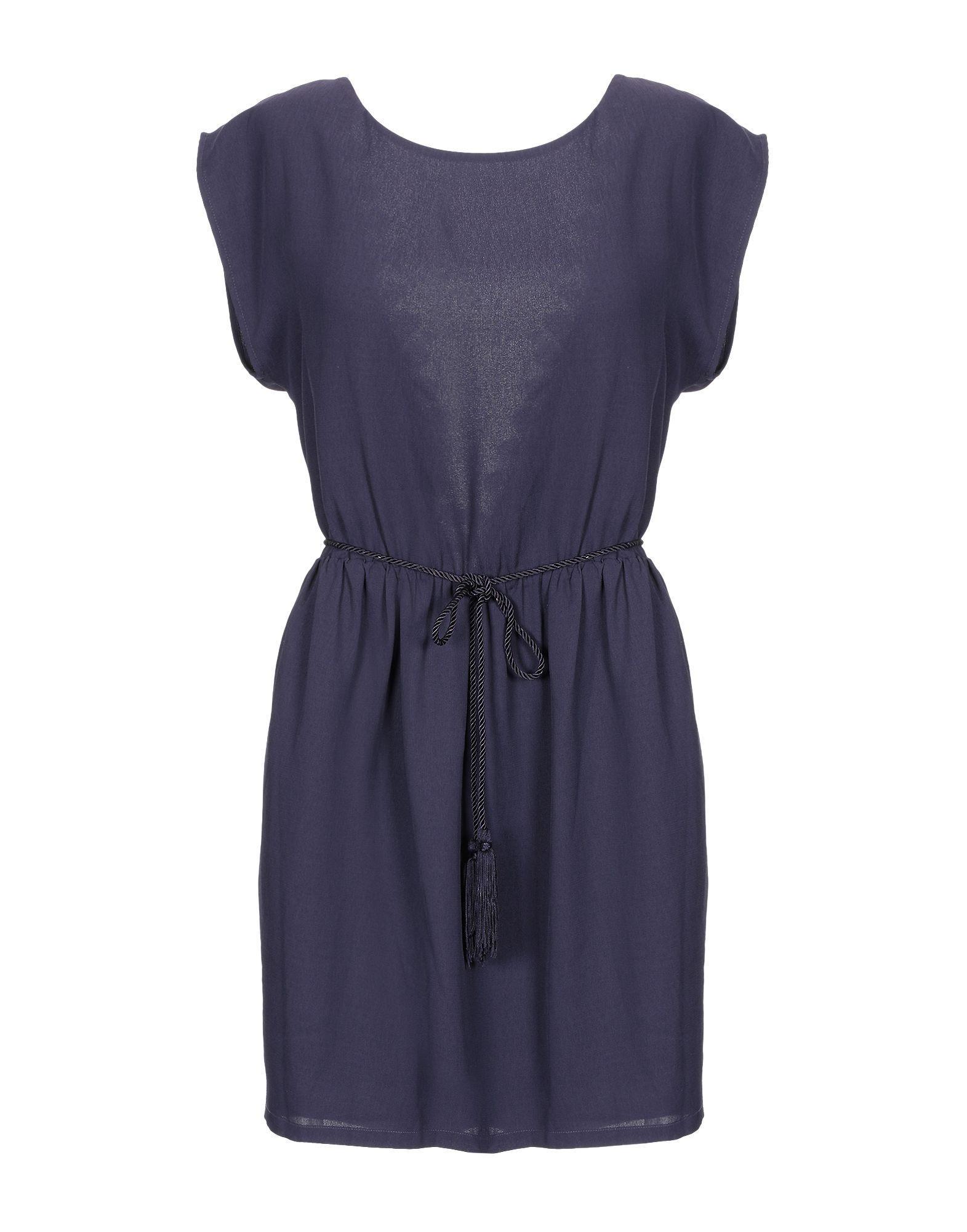 Короткое платье  - Темно-фиолетовый цвет