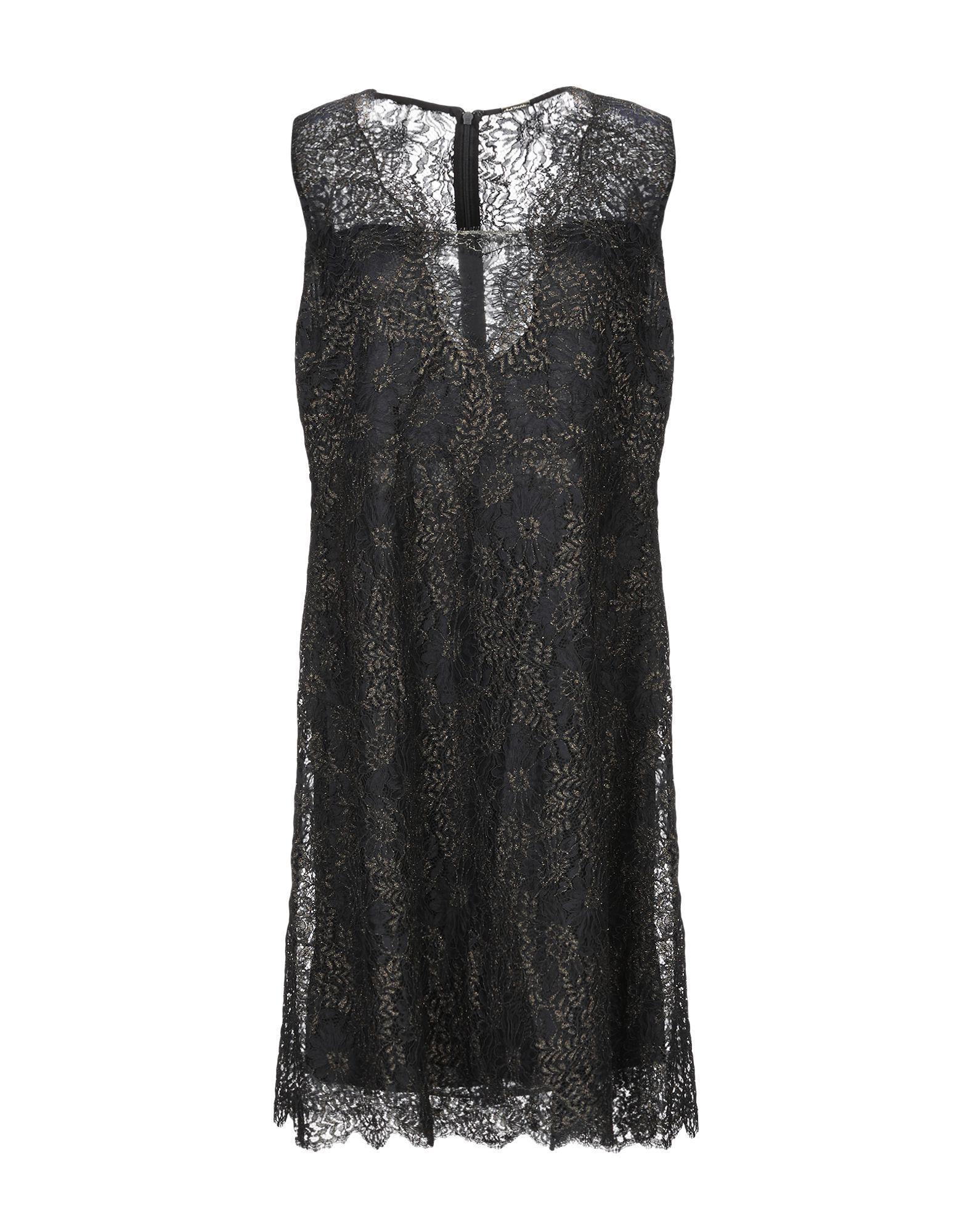 Платье до колена  - Черный цвет