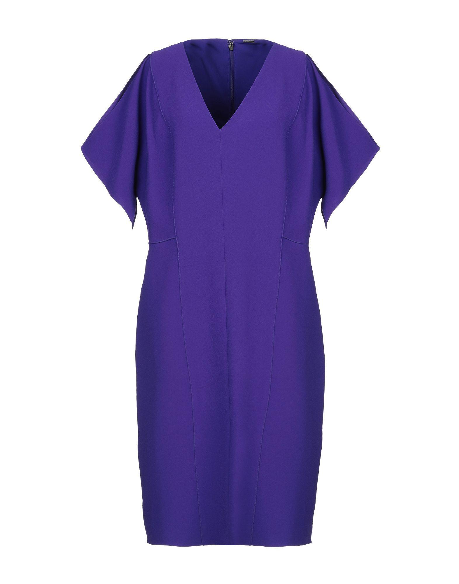 Платье до колена  - Фиолетовый цвет