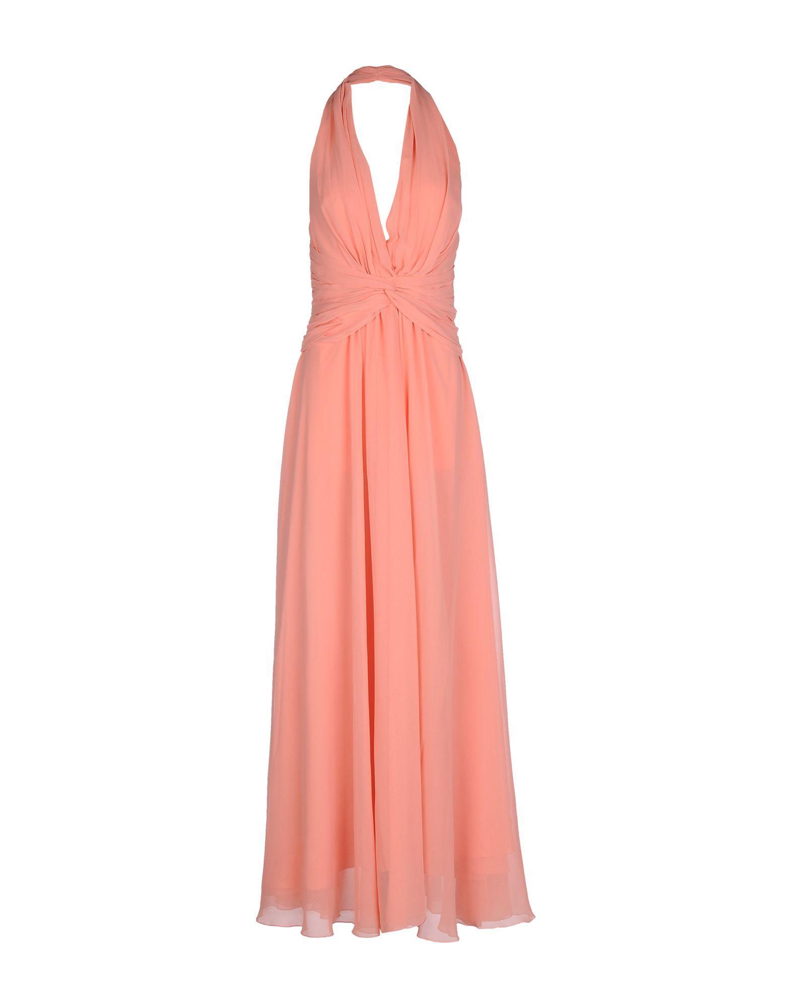 Длинное платье  Розовый цвета