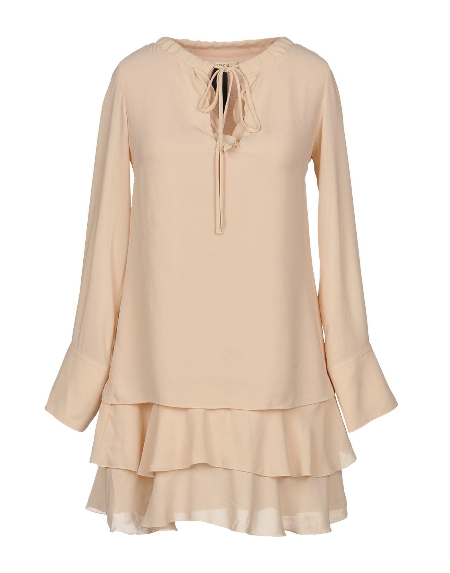 Короткое платье  Бежевый цвета