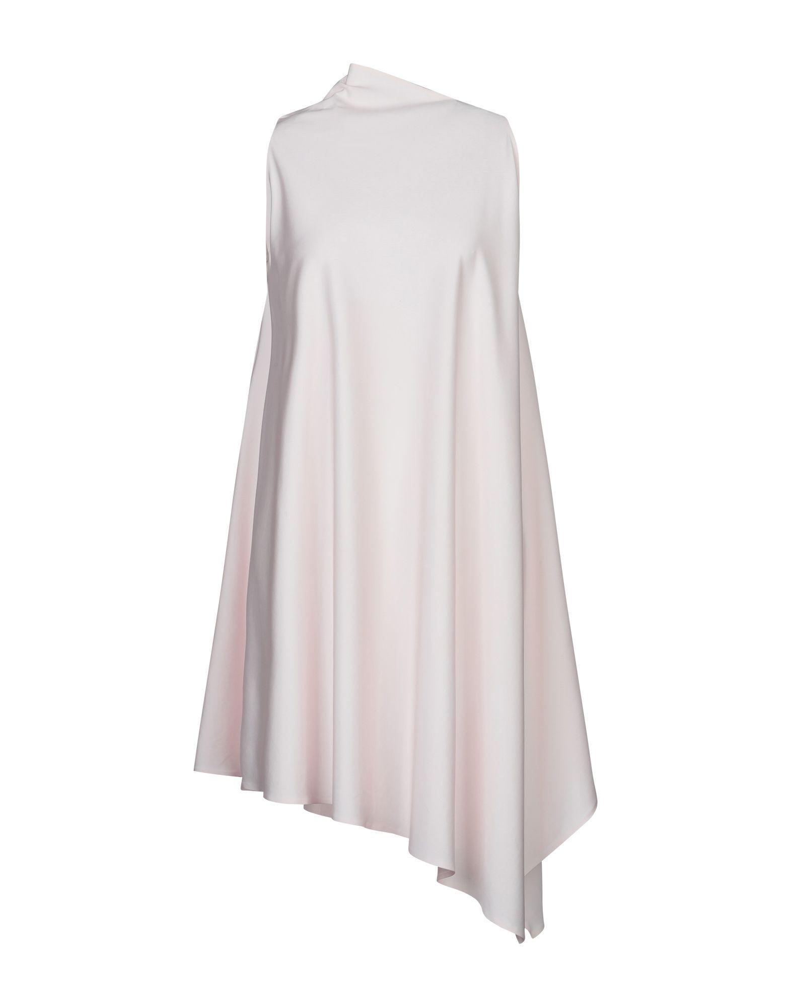 Платье до колена  Розовый цвета