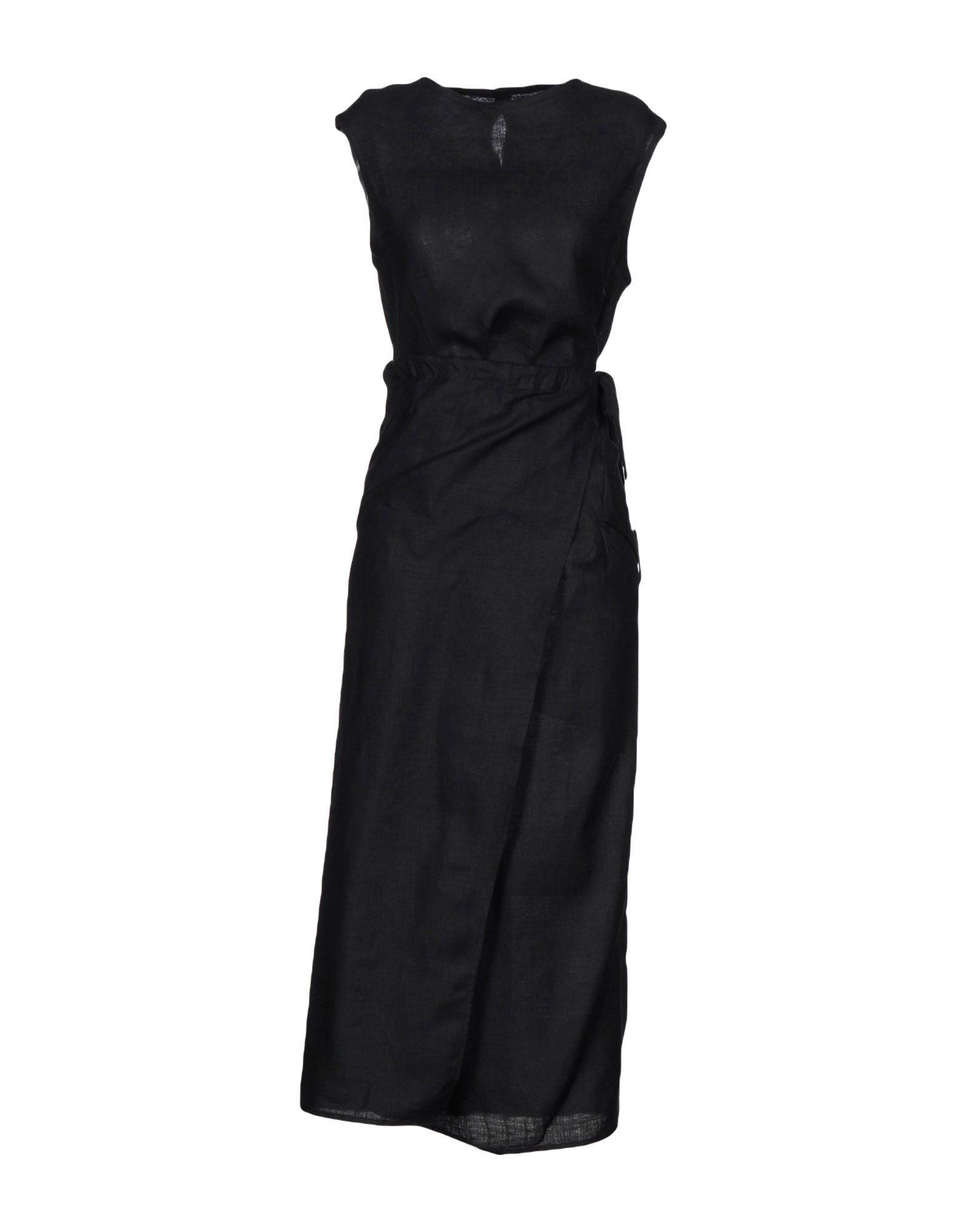 Длинное платье  - Черный цвет