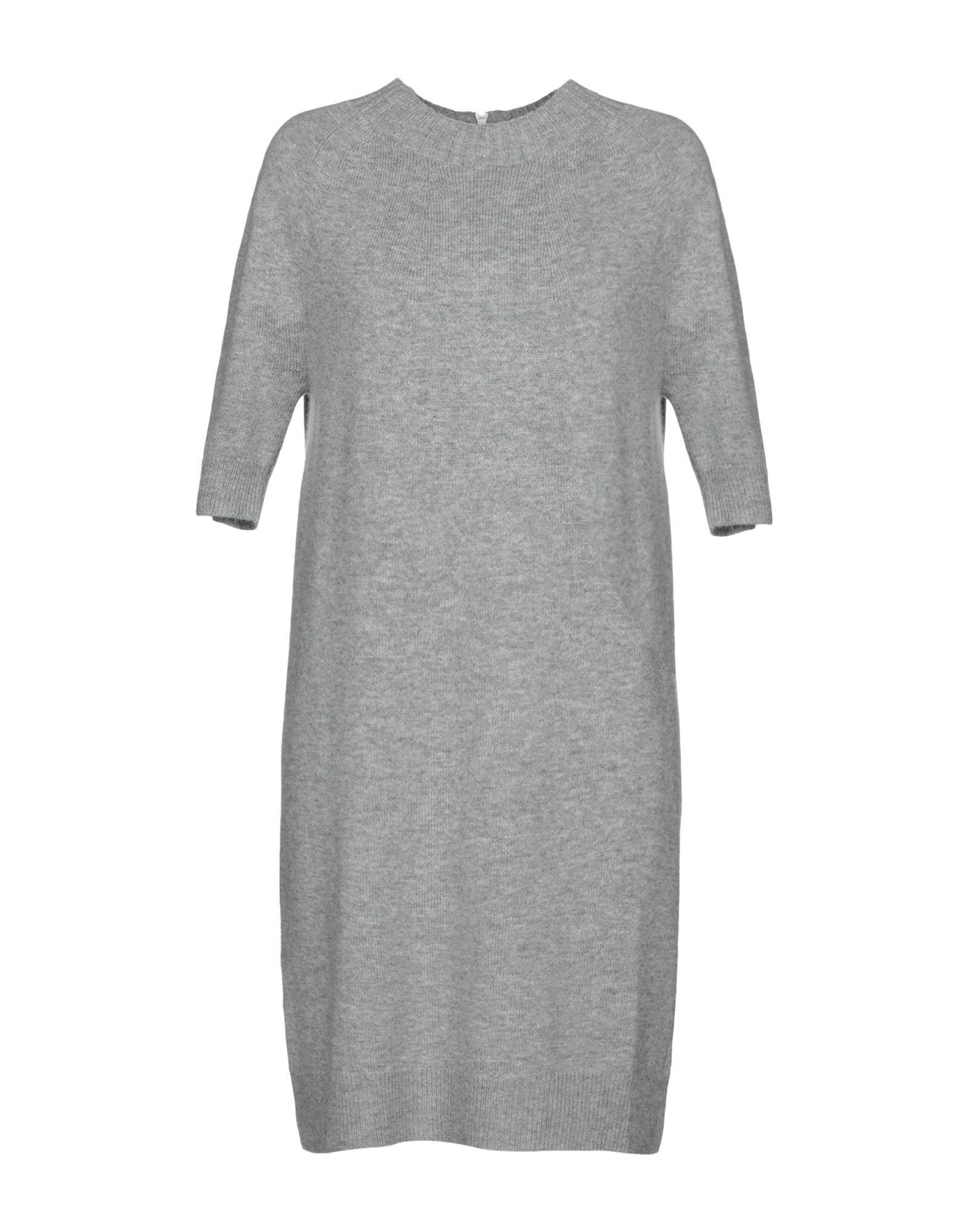 Короткое платье  - Серый,Черный цвет