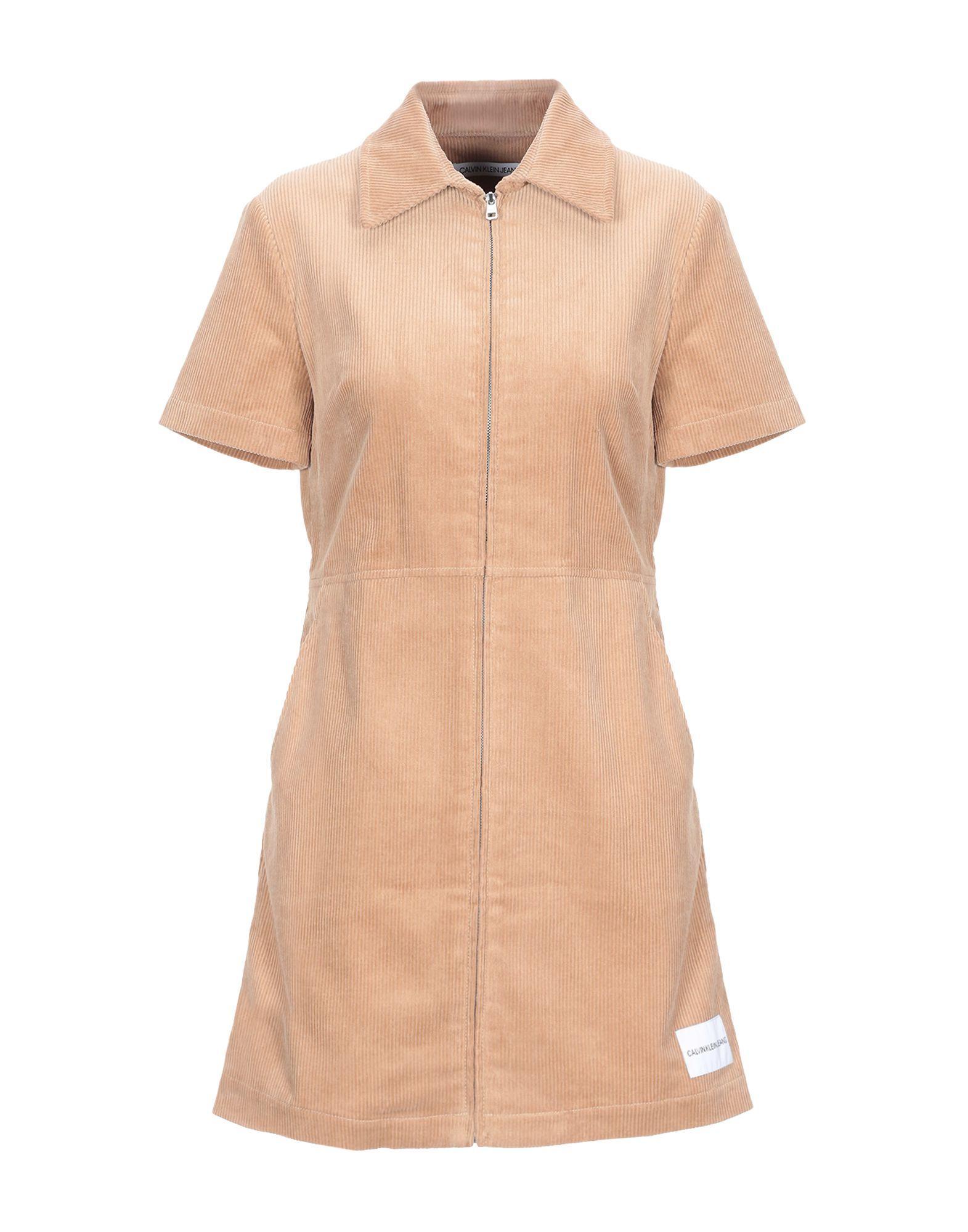 Короткое платье  - Желтый цвет