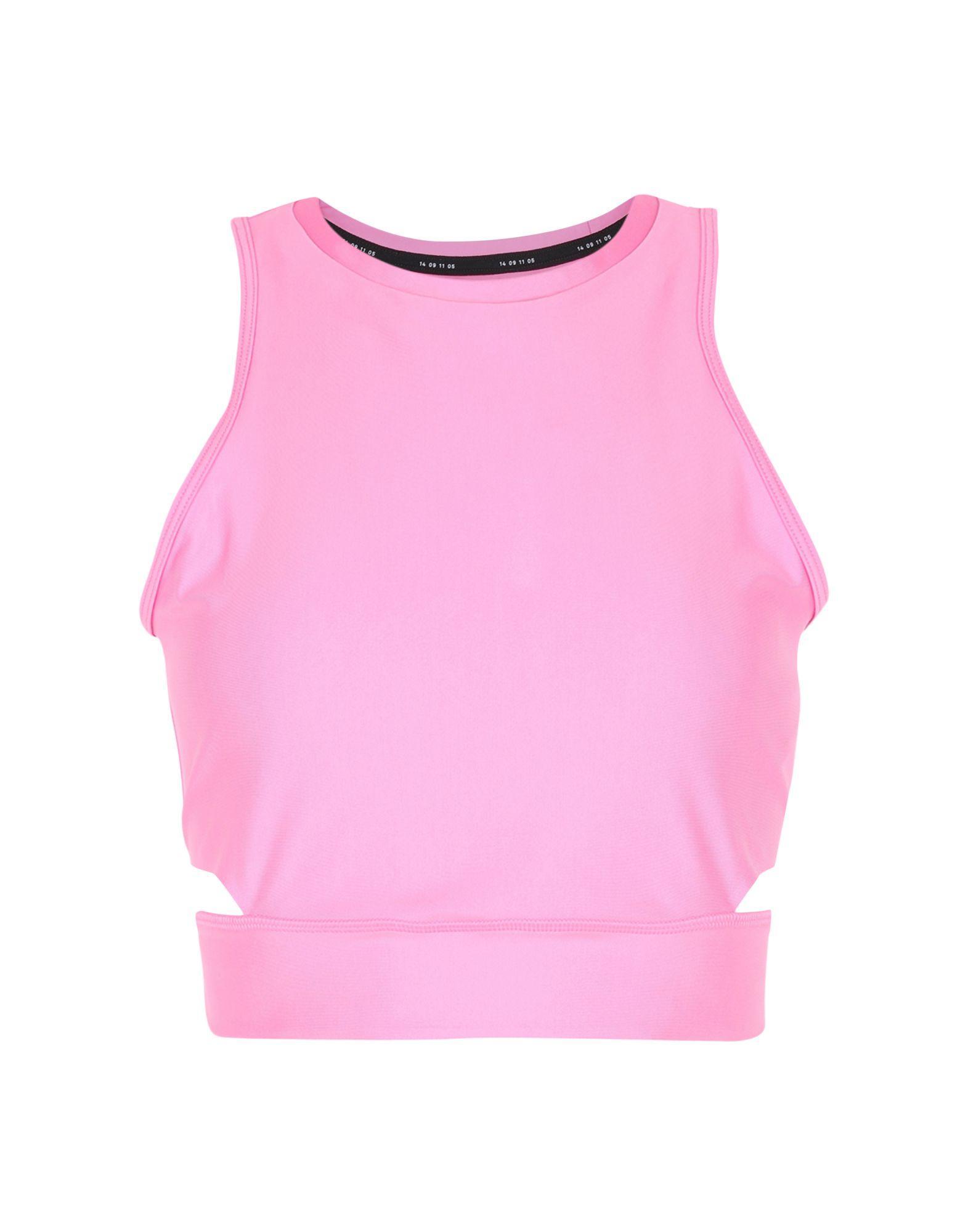 Топ без рукавов  Розовый цвета