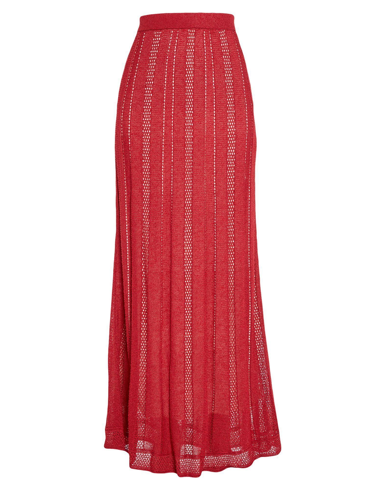 Длинная юбка  - Красный цвет
