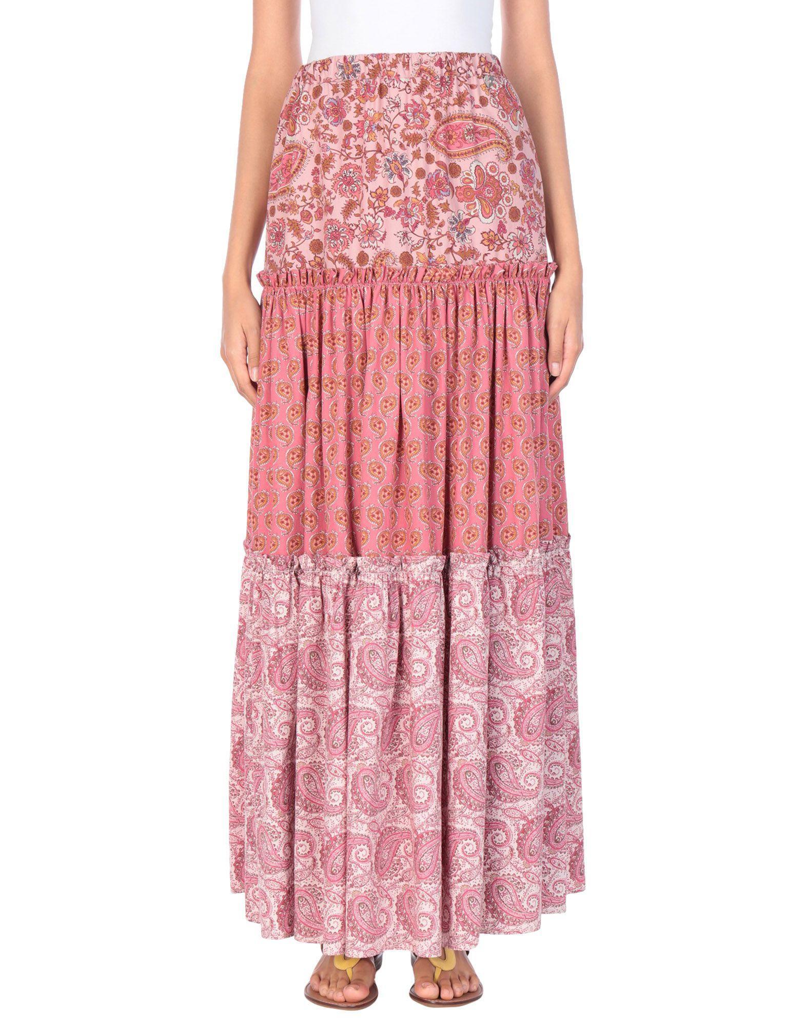 Длинная юбка  Розовый цвета