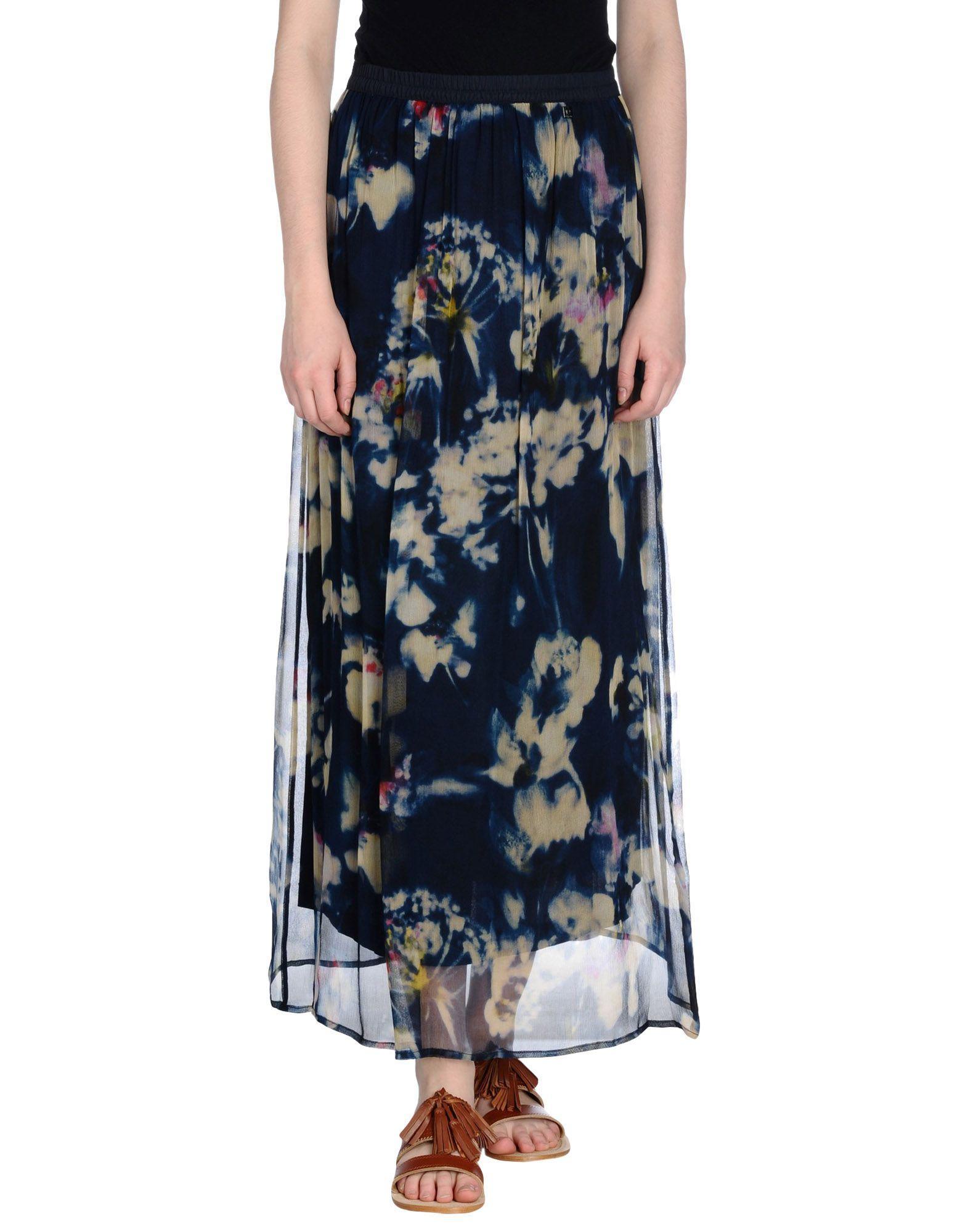 Длинная юбка  Синий цвета