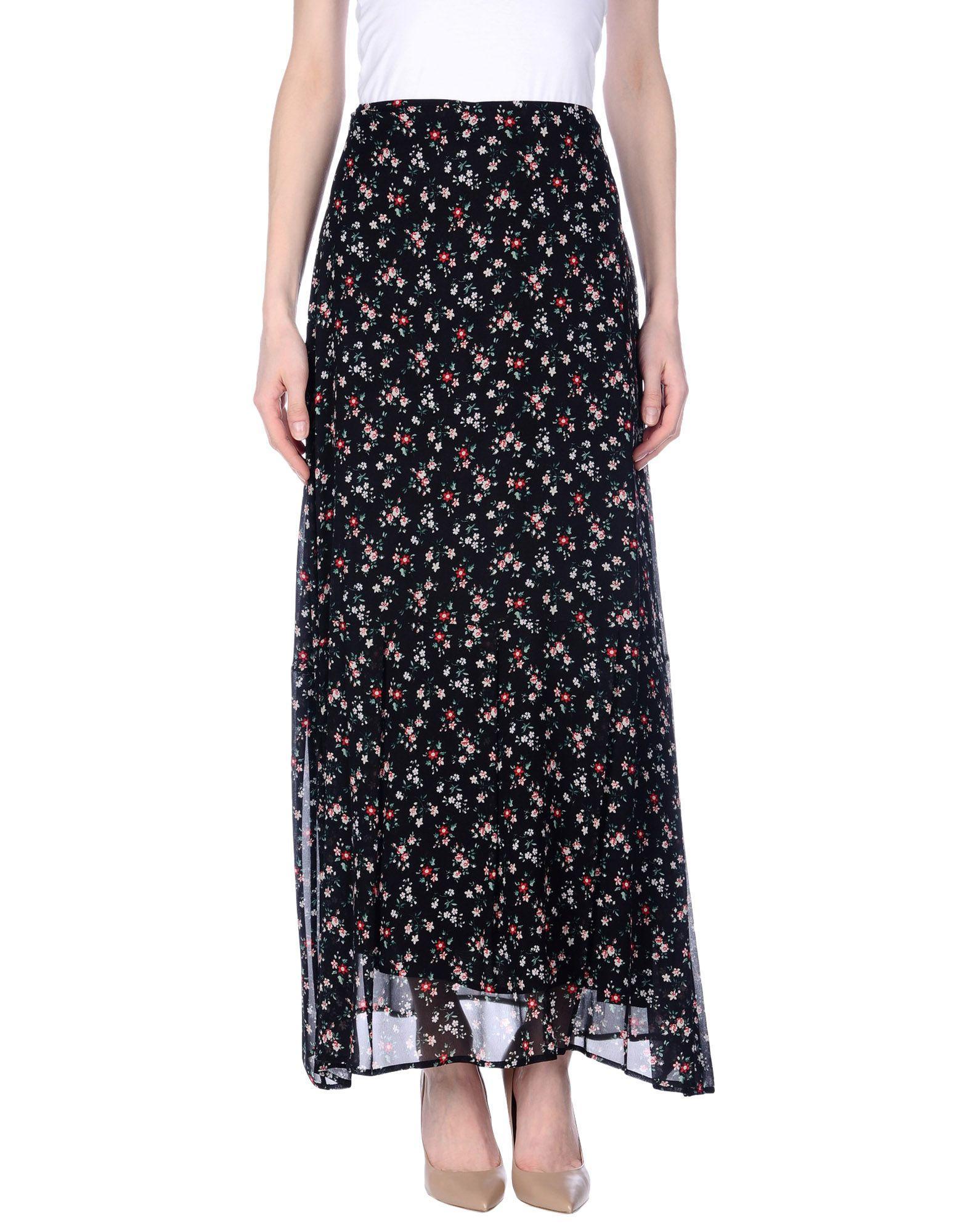 Длинная юбка  Черный цвета