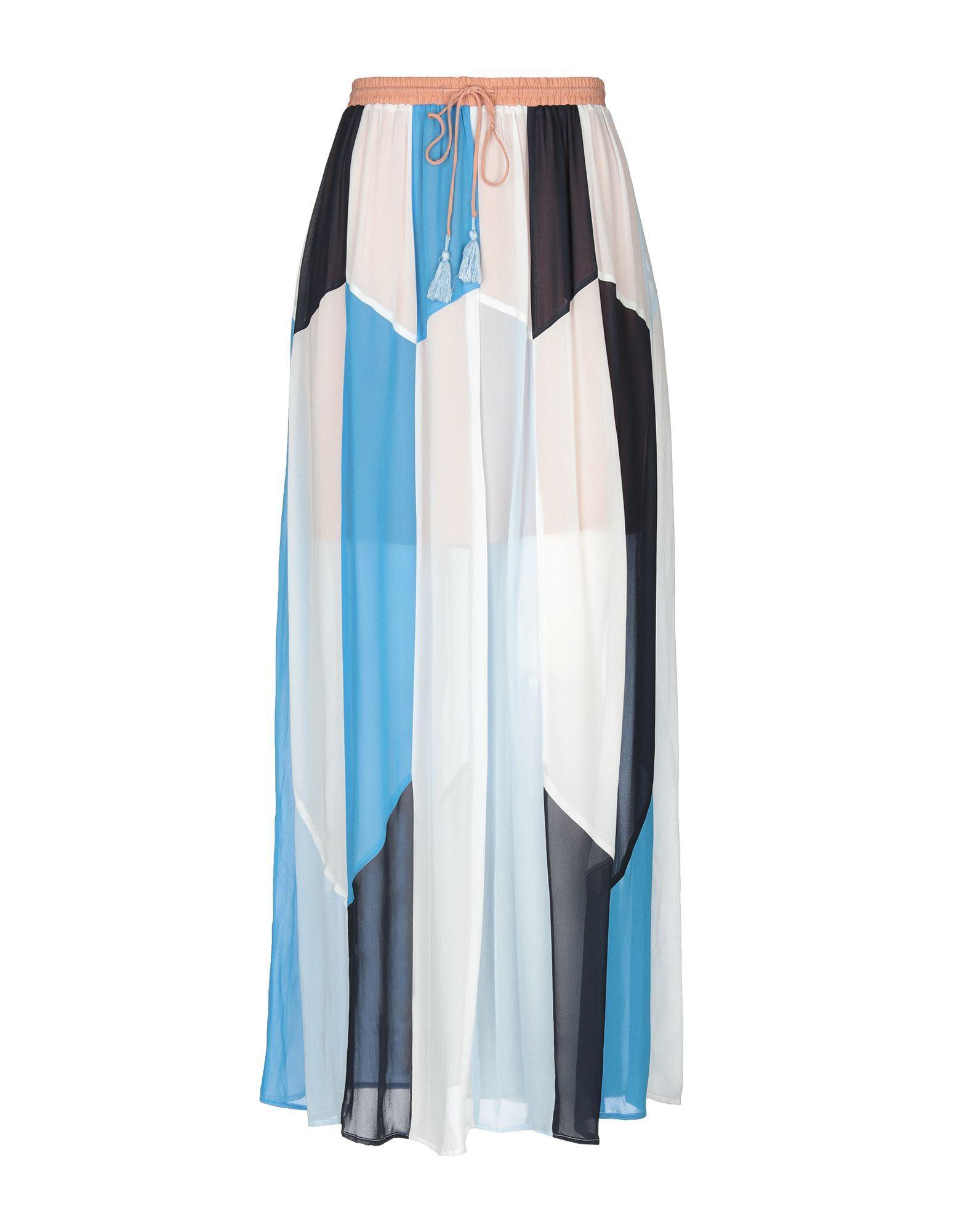 Длинная юбка  Голубой цвета