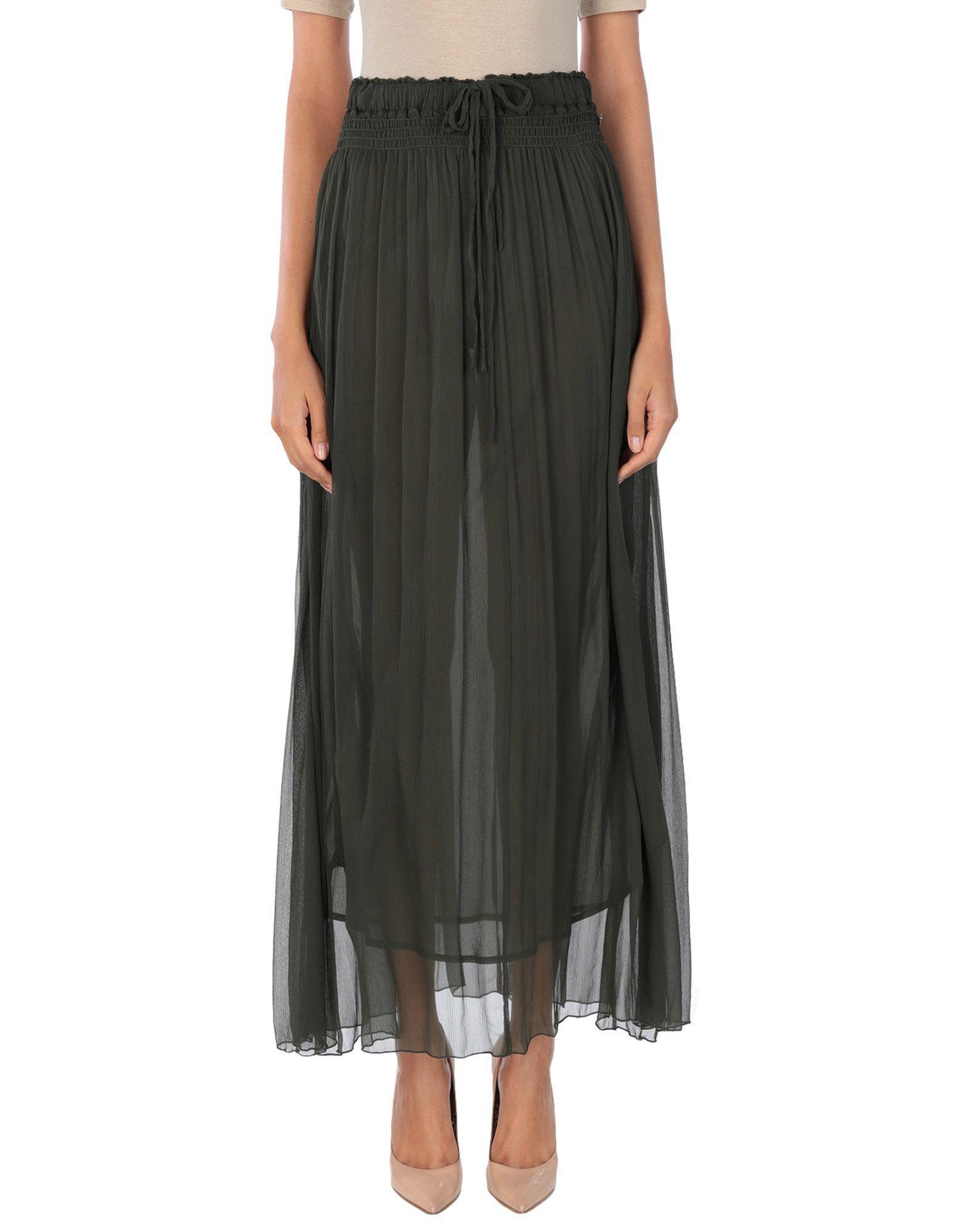 Длинная юбка  Зеленый цвета