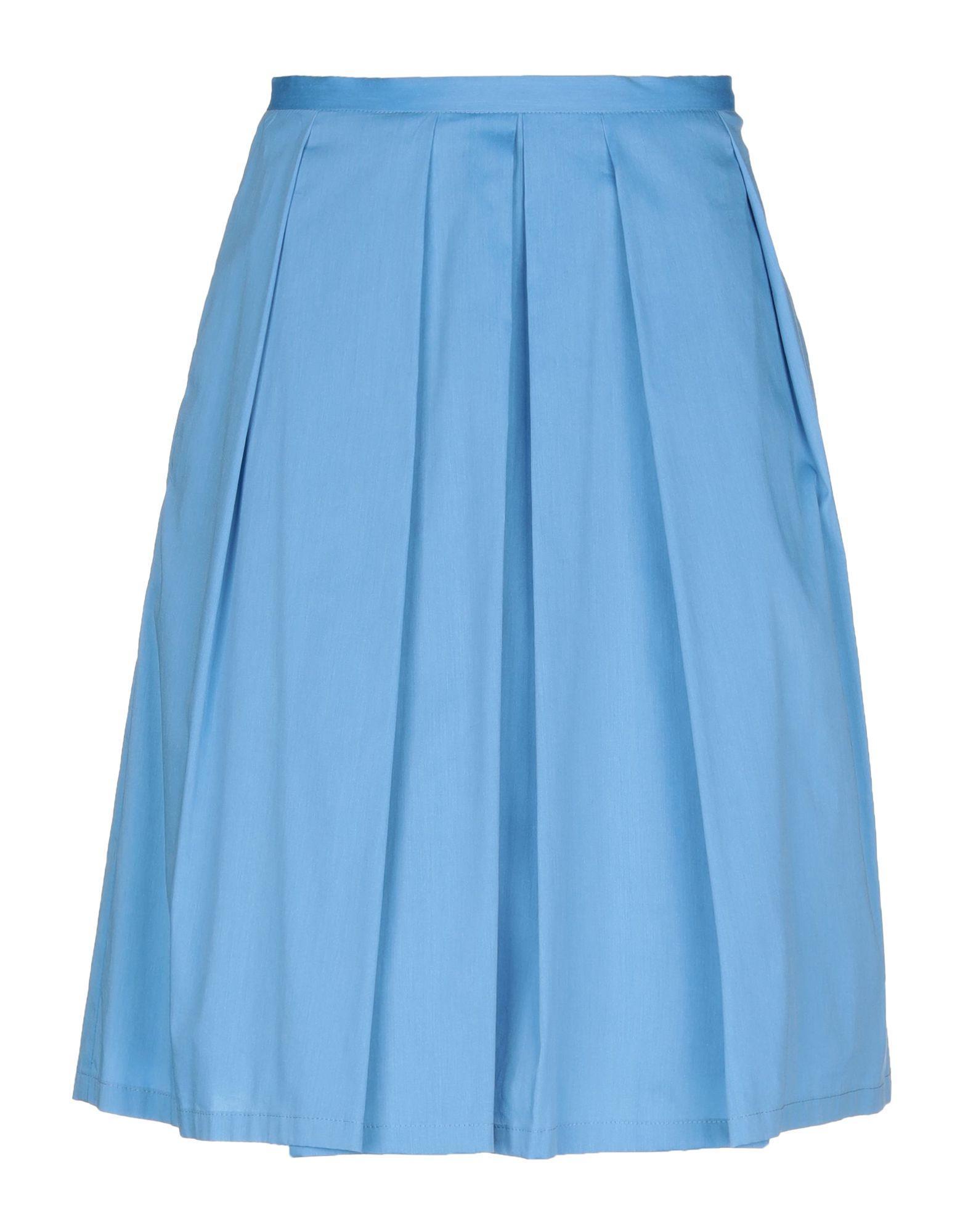 Юбка до колена  - Синий цвет