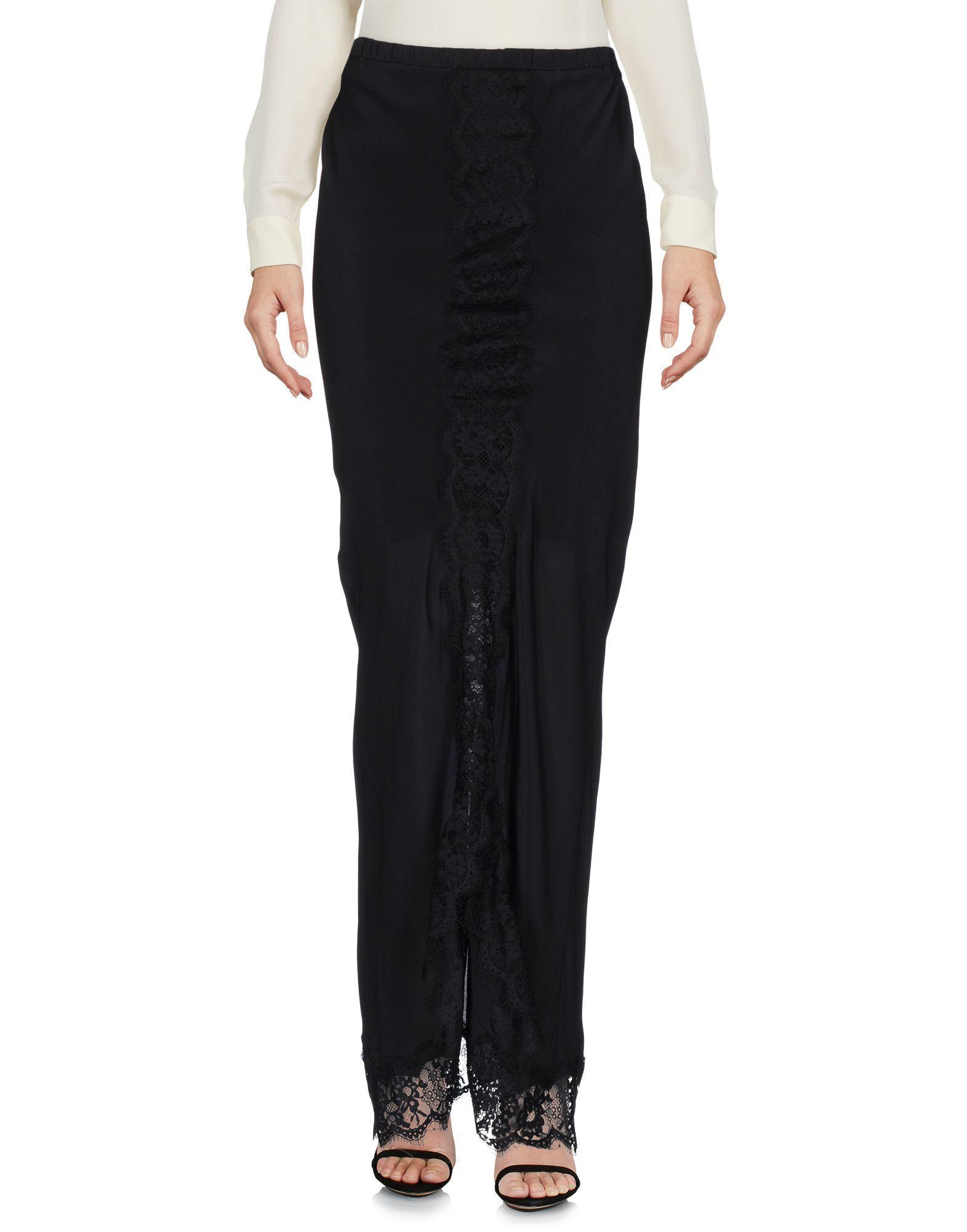Длинная юбка  - Черный цвет