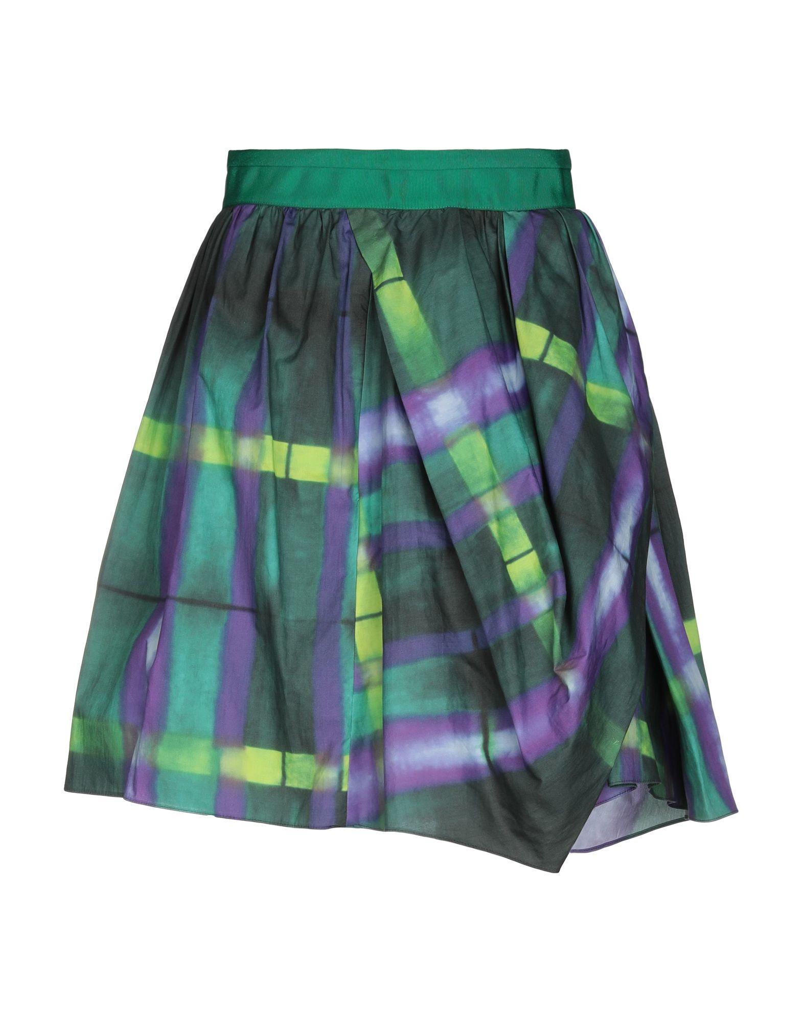Юбка до колена  - Зеленый цвет