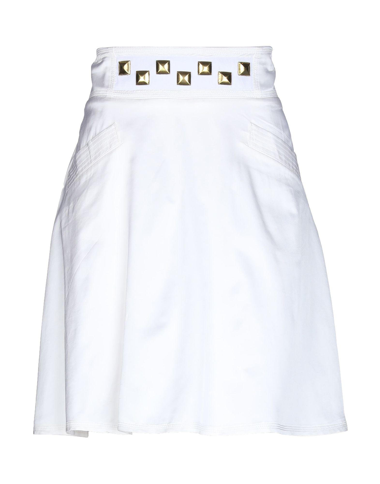 Юбка до колена  - Белый цвет